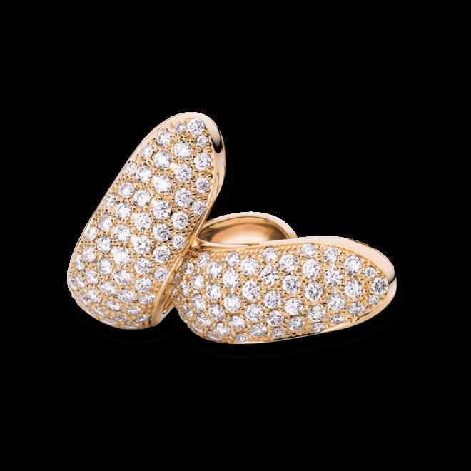 Ohrclip Tamara Comolli Signature Clips Medium aus 750 Roségold mit mehreren Diamanten (2 x 1,25 Karat)