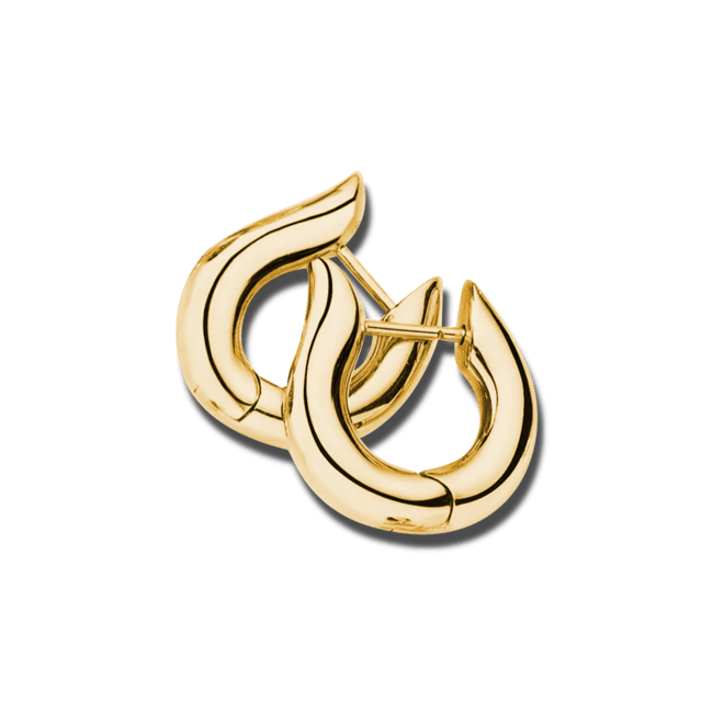 Ohrring Tamara Comolli Drop Hoops aus 750 Gelbgold