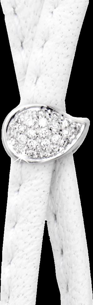 Schließe Tamara Comolli Drop Pavé aus 750 Weißgold mit mehreren Brillanten (0,12 Karat)