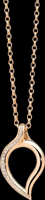 Anhänger Tamara Comolli Signature Drop Pavéline Large aus 750 Roségold mit mehreren Diamanten (0,2 Karat)