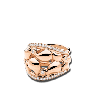 Tamara Comolli Ring Lace Pavé R-LAC-PL-M-RG