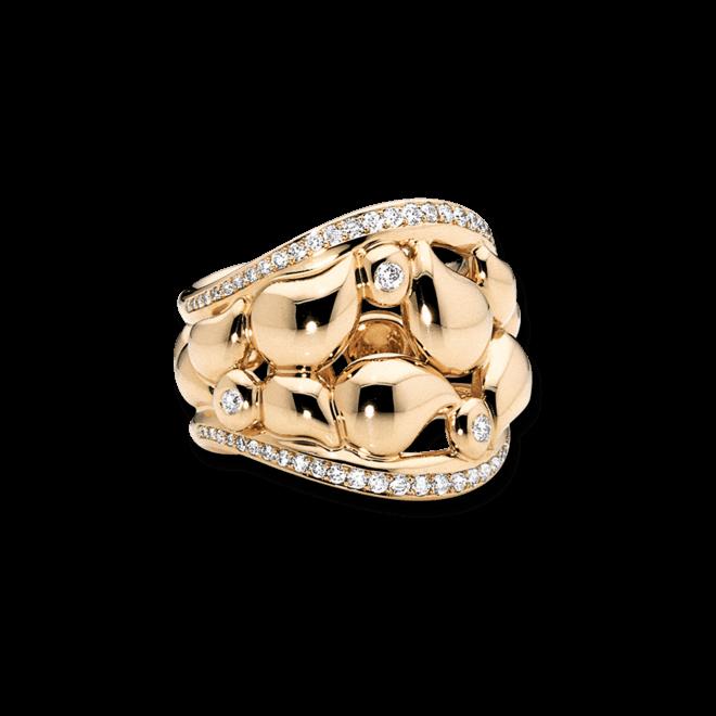 Ring Tamara Comolli Lace Pavé aus 750 Gelbgold mit mehreren Diamanten (0,5 Karat)
