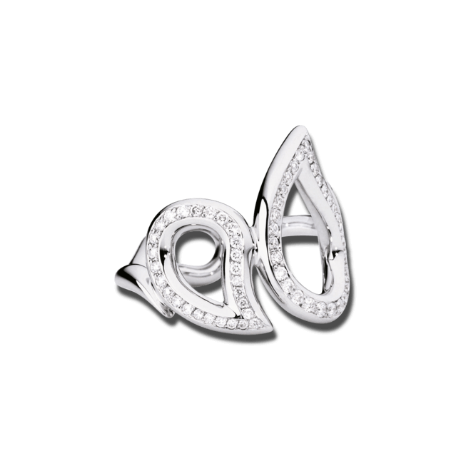 Ring Tamara Comolli Signature Large aus 750 Weißgold mit mehreren Diamanten (0,49 Karat)