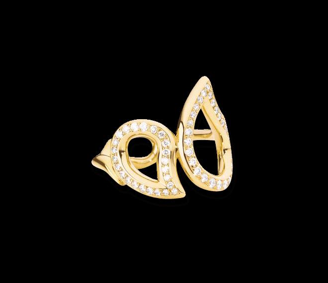 Ring Tamara Comolli Signature Large aus 750 Gelbgold mit mehreren Diamanten (0,49 Karat)