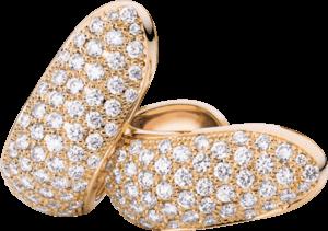 Ohrclip Tamara Comolli Signature aus 750 Roségold mit mehreren Diamanten (2 x 1,25 Karat)