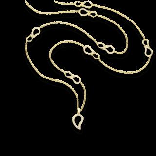 Tamara Comolli Halskette mit Anhänger Pavé N-SIG-PL-YG