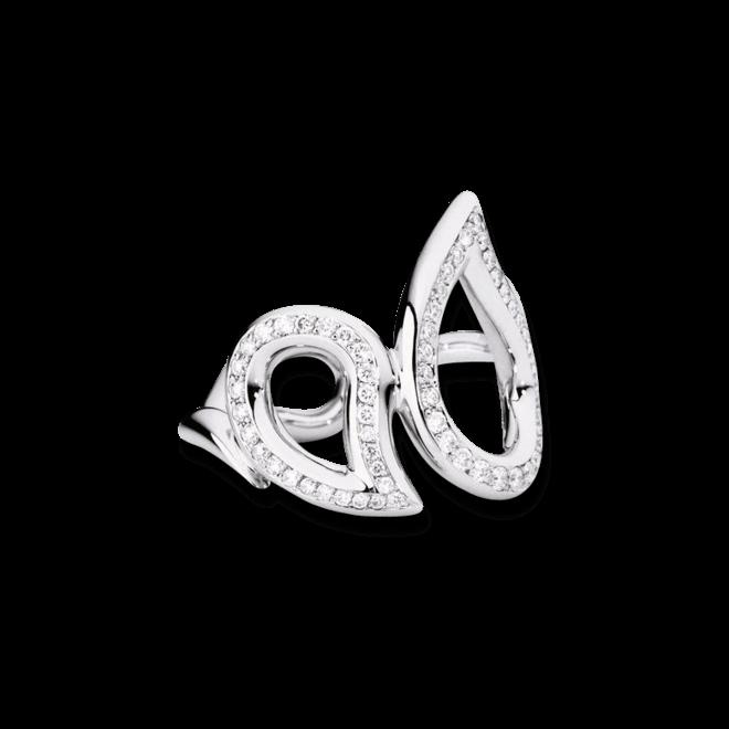 Ring Tamara Comolli Signature Pavéline aus 750 Weißgold mit mehreren Diamanten (0,34 Karat)