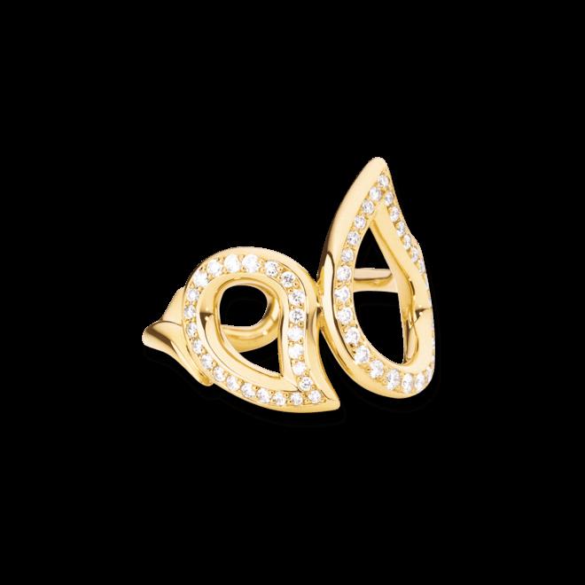 Ring Tamara Comolli Signature Pavéline aus 750 Gelbgold mit mehreren Diamanten (0,34 Karat)