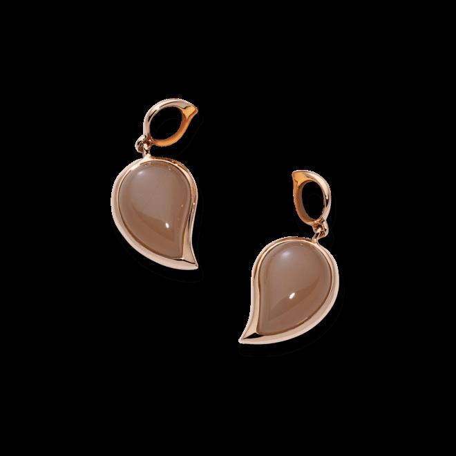 Ohrring Anhänger Tamara Comolli Single Drop Brauner Mondstein S aus 750 Roségold mit 2 Mondsteinen