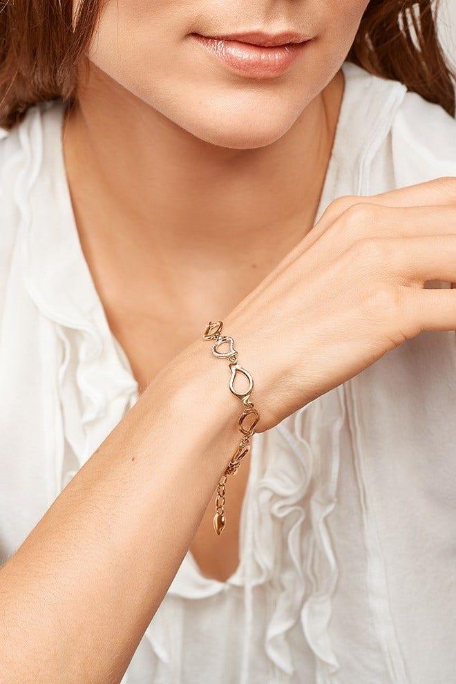 Armband Tamara Comolli Signature Small One Drop Pavéline aus 750 Roségold mit mehreren Brillanten (0,31 Karat) bei Brogle