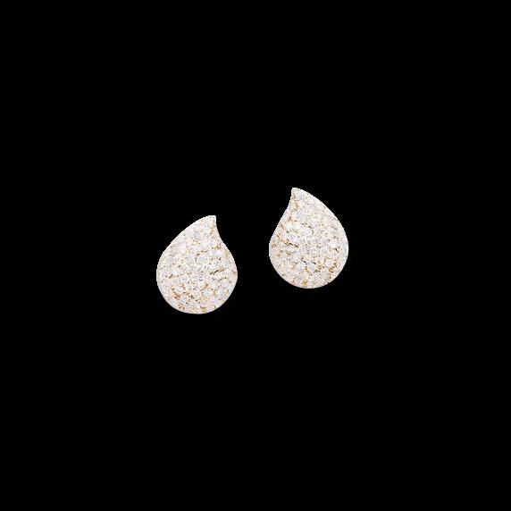 Ohrring Tamara Comolli Signature Small Pavéline aus 750 Roségold mit mehreren Brillanten (2 x 0,44 Karat)