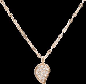 Halskette mit Anhänger Tamara Comolli Sparkle Chain aus 750 Roségold mit mehreren Brillanten (0,08 Karat)