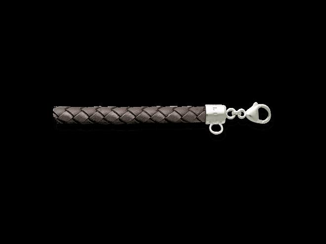 Armband Thomas Sabo Charm Club aus Rindsleder und 925 Sterlingsilber Größe L