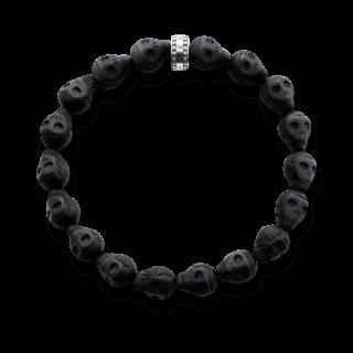 Thomas Sabo Armband Black Skulls A1218-023-11-L