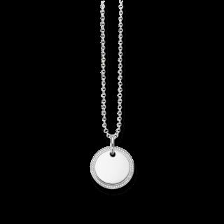 Thomas Sabo Halskette mit Anhänger Scheibe Pavé KE1480-051-14-L45V