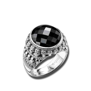 Thomas Sabo Ring Onyx TR2005-024-11