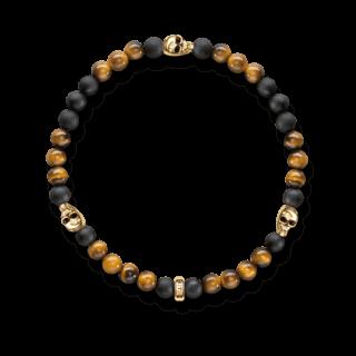 Thomas Sabo Armband Totenkopf Gold A1507-881-2-L17