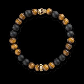 Thomas Sabo Armband Totenkopf Gold A1509-881-2-L17
