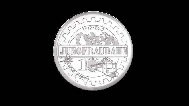 Damenuhr Tissot Classic Dream Jungfraubahn mit weißem Zifferblatt und Edelstahlarmband