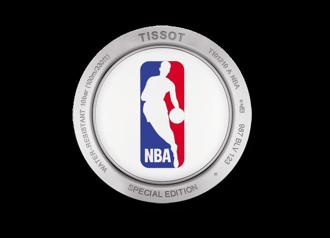 Damenuhr Tissot PR 100 Lady NBA mit weißem Zifferblatt und Edelstahlarmband