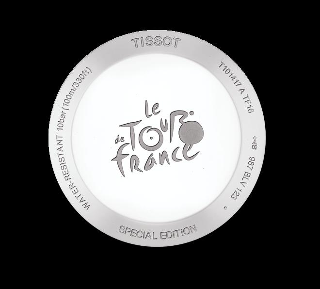 Herrenuhr Tissot PR 100 Tour de France 2016 mit silberfarbenem Zifferblatt und Edelstahlarmband