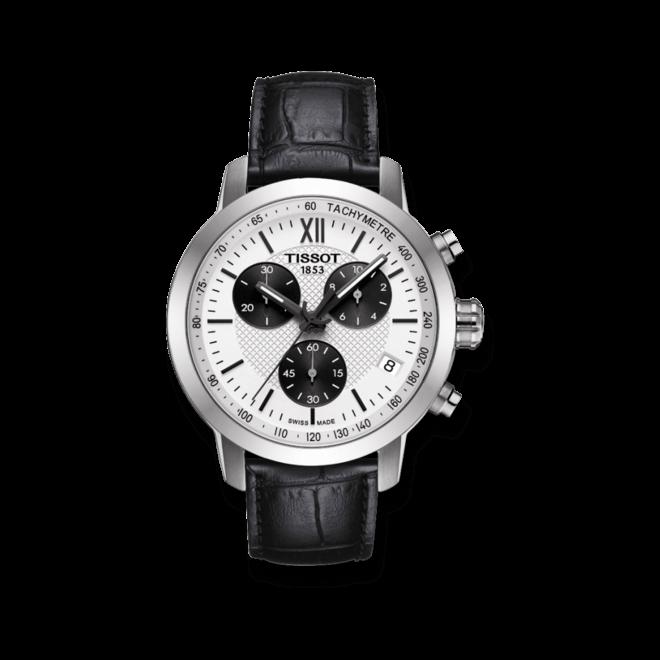 Herrenuhr Tissot PRC 200 Fencing Quartz Chronograph Gent mit Kalbsleder-Armband
