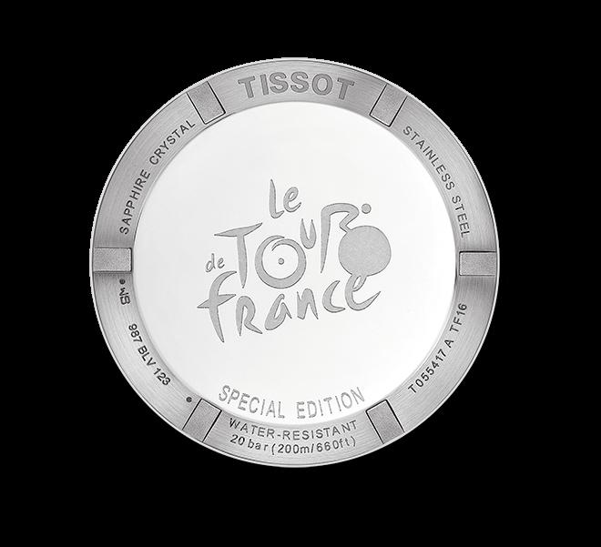 Herrenuhr Tissot PRC 200 Tour de France 2016 mit schwarzem Zifferblatt und Nylonarmband