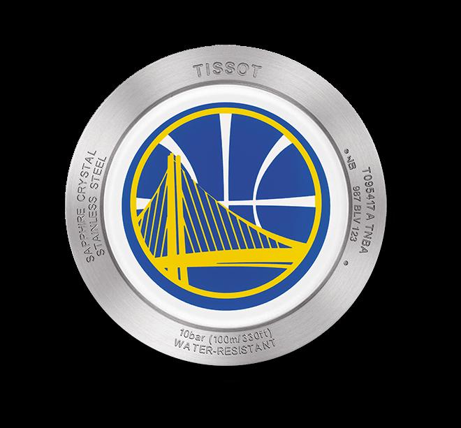 Herrenuhr Tissot Quickster NBA Teams Golden State Warriors mit weißem Zifferblatt und Synthetikarmband