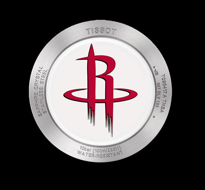 Herrenuhr Tissot Quickster NBA Teams Houston Rockets mit weißem Zifferblatt und Synthetikarmband