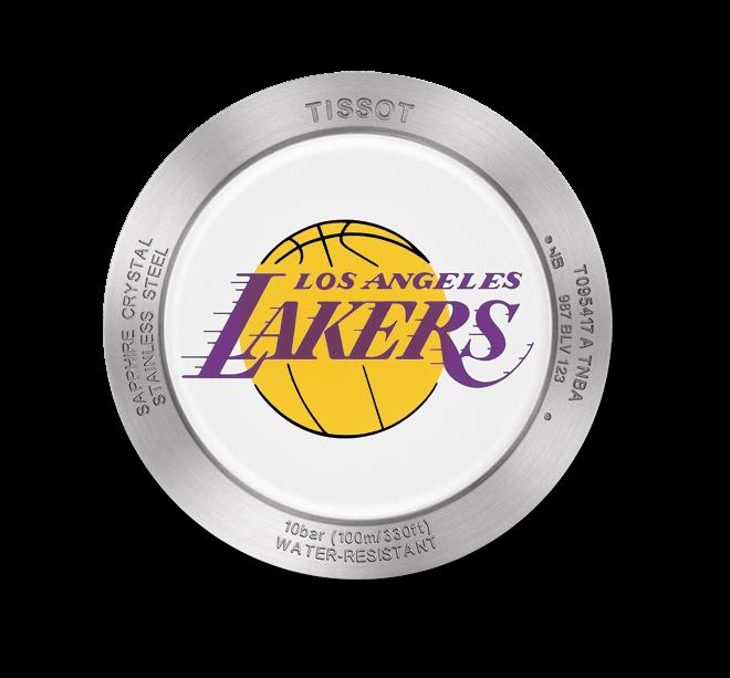 Herrenuhr Tissot Quickster NBA Teams Los Angeles Lakers mit weißem Zifferblatt und Synthetikarmband