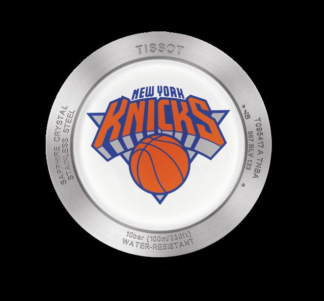 Herrenuhr Tissot Quickster NBA Teams New York Knicks mit weißem Zifferblatt und Synthetikarmband