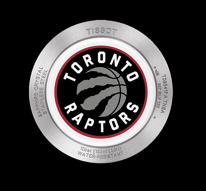 Herrenuhr Tissot Quickster NBA Teams Toronto Raptors mit weißem Zifferblatt und Synthetikarmband