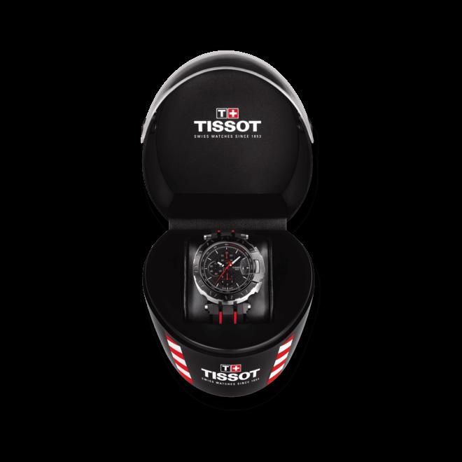 Herrenuhr Tissot T-Race MotoGP 2016 Automatic mit schwarzem Zifferblatt und Kautschukarmband