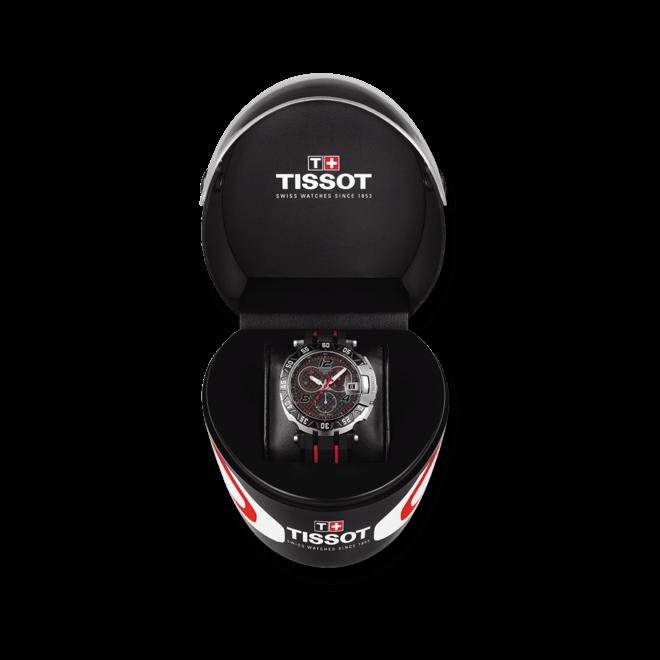 Herrenuhr Tissot T-Race MotoGP 2016 mit schwarzem Zifferblatt und Kautschukarmband