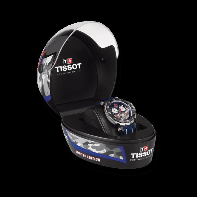 Herrenuhr Tissot T-Race Nicky Haden 2016 mit blauem Zifferblatt und Kautschukarmband