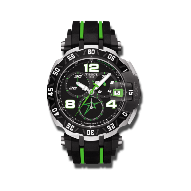 Herrenuhr Tissot T-Race Nicky Hayden 2015 mit schwarzem Zifferblatt und Silikonarmband