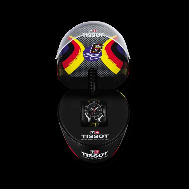 Herrenuhr Tissot T-Race Stefan Brandl 2014 mit anthrazitfarbenem Zifferblatt und Silikonarmband