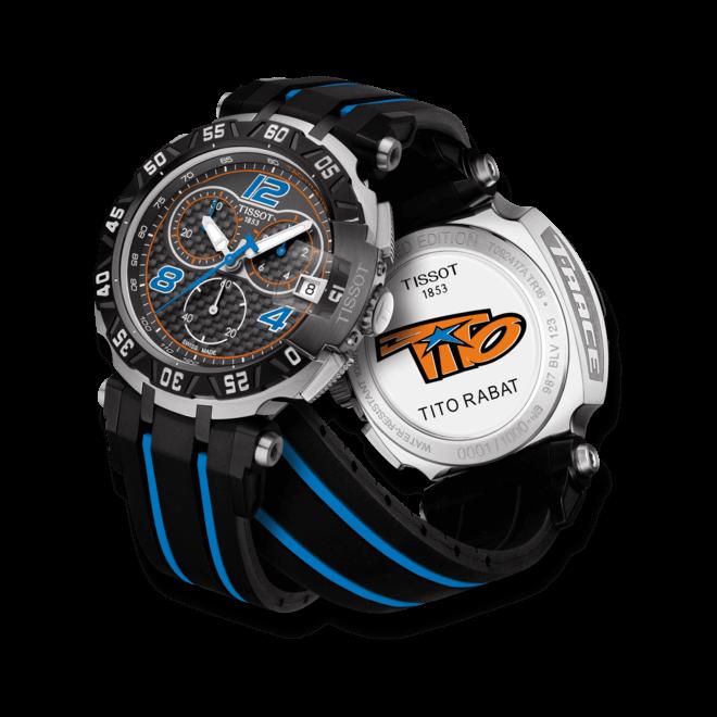 Herrenuhr Tissot T-Race Tito Rabat 2016 mit schwarzem Zifferblatt und Silikonarmband