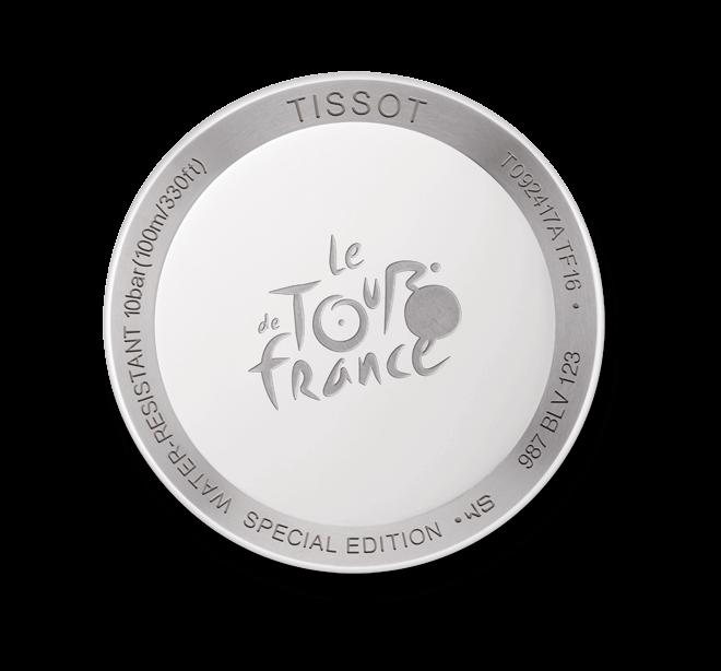Damenuhr Tissot T-Race Tour de France 2016 mit weißem Zifferblatt und Kautschukarmband