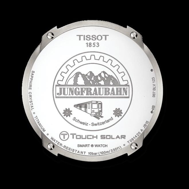 Herrenuhr Tissot T-Touch Expert Solar Jungfraubahn mit schwarzem Zifferblatt und Synthetikarmband