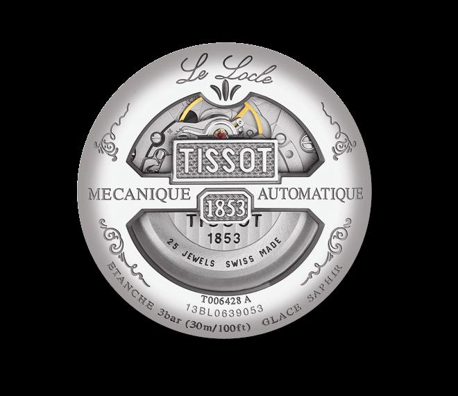 Herrenuhr Tissot T-Classic Automatik 39mm mit silberfarbenem Zifferblatt und Edelstahlarmband
