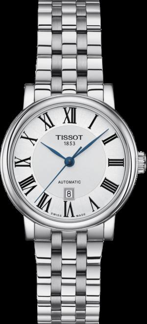 Damenuhr Tissot Carson Premium Automatic Lady mit silberfarbenem Zifferblatt und Edelstahlarmband
