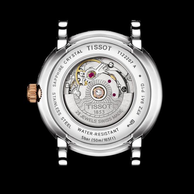 Damenuhr Tissot Carson Premium Automatic Lady mit Diamanten, silberfarbenem Zifferblatt und Edelstahlarmband bei Brogle