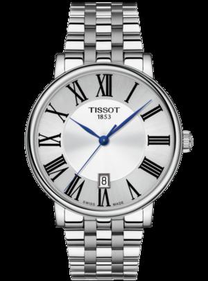 Herrenuhr Tissot Carson Premium Gent mit silberfarbenem Zifferblatt und Edelstahlarmband