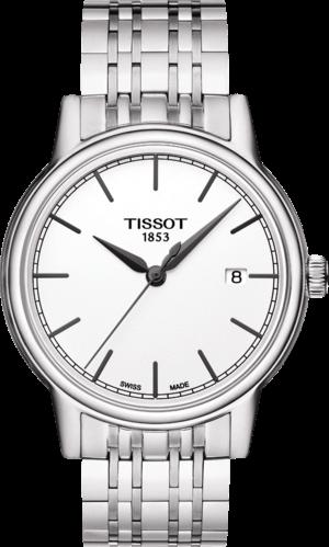 Herrenuhr Tissot Carson Quartz Gent mit weißem Zifferblatt und Edelstahlarmband