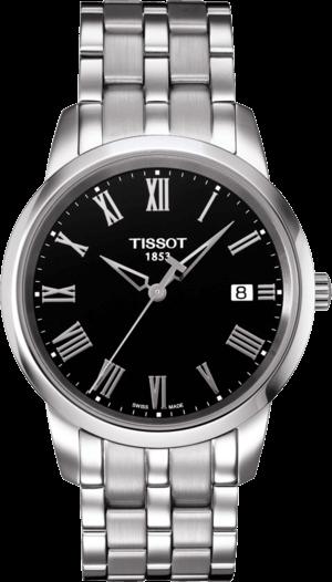 Herrenuhr Tissot Classic Dream Gent mit schwarzem Zifferblatt und Edelstahlarmband