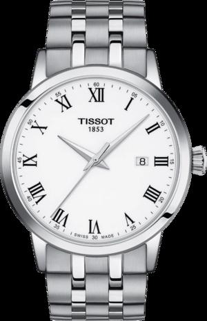 Herrenuhr Tissot Classic Dream Gent mit weißem Zifferblatt und Edelstahlarmband