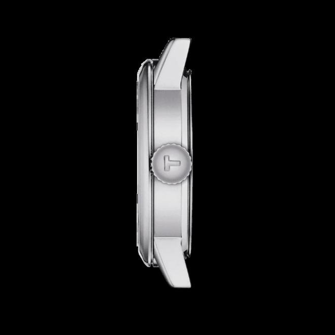 Damenuhr Tissot Classic Dream Lady 28mm mit schwarzem Zifferblatt und Rindsleder-Armband bei Brogle