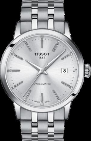 Herrenuhr Tissot Classic Dream Swissmatic mit silberfarbenem Zifferblatt und Edelstahlarmband