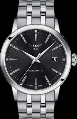 Herrenuhr Tissot Classic Dream Swissmatic mit schwarzem Zifferblatt und Edelstahlarmband